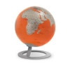 , globe iGlobe Orange 25cm diameter metaal/chroom