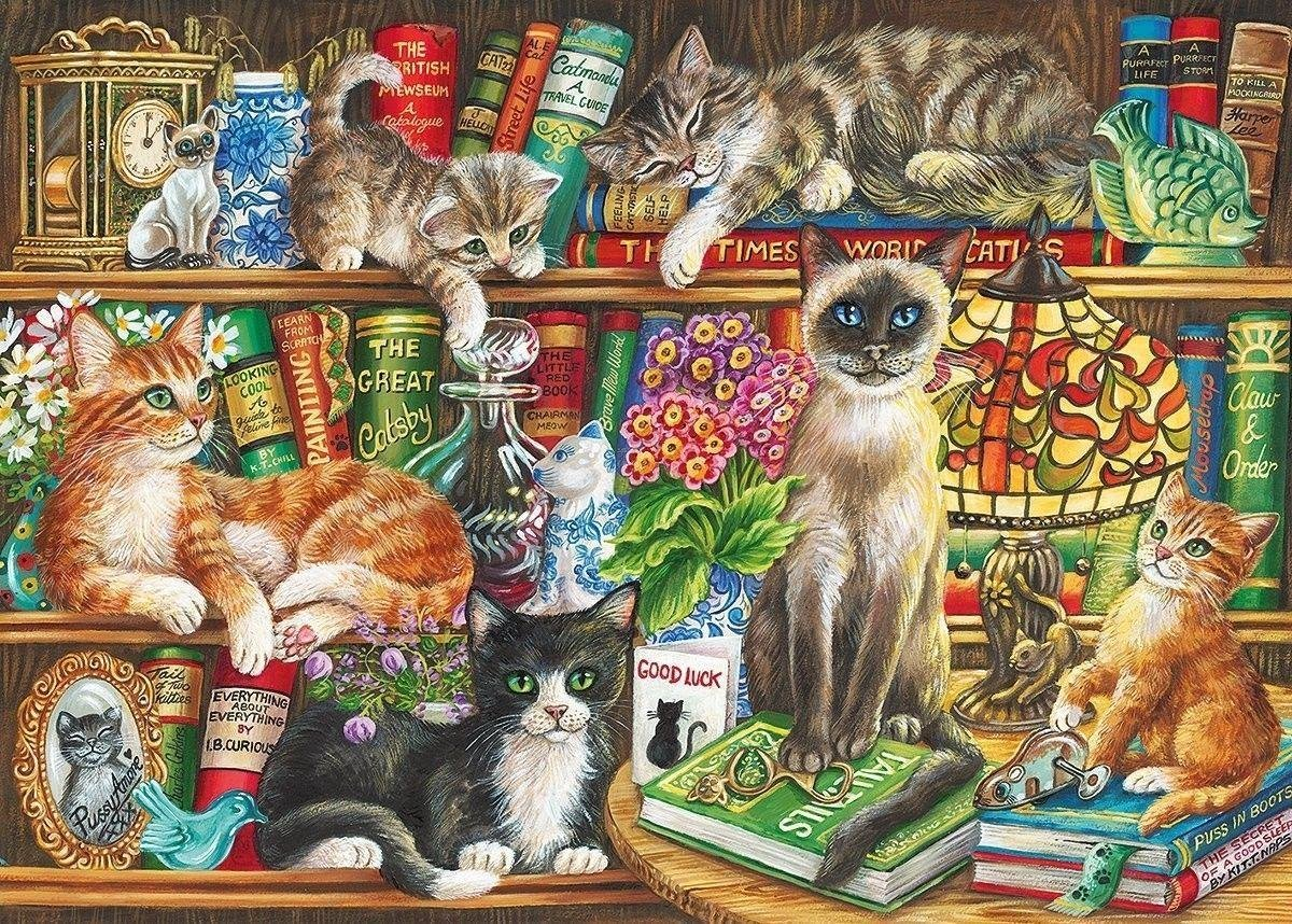 Gib-g6147,Gibsons puzzel puss in books 1000