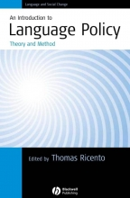 Thomas Ricento An Introduction to Language Policy