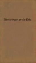 Becher, William Erinnerungen an die Erde