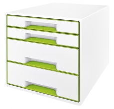 , Ladenblok Leitz WOW Cube 4 laden wit/groen