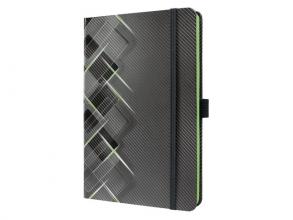 Co636 Notitieboek conceptum look drive 135x203 lijn neon groen
