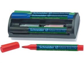 boardmarker Schneider Maxx Eco 110 set a 4 stuks + wisser