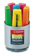 , Markeerstift STABILO Boss Original 7006 deskset  à 6 kleuren