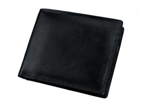 , Combi Portefeuille Alassio met RFID Document Safe, zwart    nappaleer, 11,5 x 9,5 cm