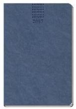Wochenbuch Soft Touch 2017 Blau