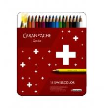 , Kleurpotloden Caran d`Ache Swisscolor 18stuks ass