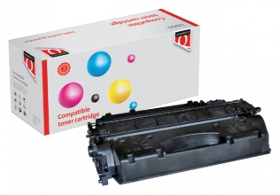 , Tonercartridge Quantore HP CE505X 05X EHC zwart