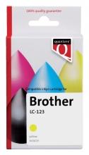 , Inktcartridge Quantore Brother LC-123 geel