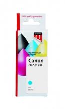 , Inktcartridge Quantore Canon CLI-581XXL blauw