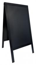 , Stoepbord Securit 70x125x4cm zwart hout