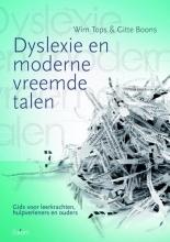 Gitte Boons Wim Tops, Dyslexie en moderne vreemde talen