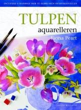 Fiona  Peart Tulpen aquarelleren