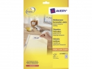 ,etiket Avery ILK 17,8x10mm wit NP 25 vel 270 etiketten per  vel