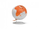 ,globe iGlobe light Orange 25cmdiameter metaal/chrome Oranje
