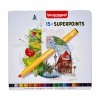 ,<b>Viltstift Bruynzeel Expression super points blik à 15 stuks assorti</b>