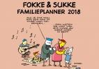 <b>John Stuart  Reid, Bastiaan  Geleijnse,  van Tol</b>,Fokke & Sukke familieplanner 2018