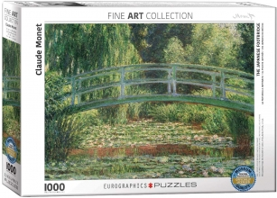 Eur-6000-0827 , Puzzel the japanese footbridge - claude monet - 1000 stuks