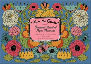 From the Garden - Beautiful Botanical Paper Placemats: Artwork by Lisa Congdon - 48 Placemats - 6 Assorted Designs