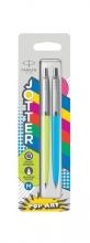 , Balpen Parker Jotter Original Popart 60`s limegreen en skyblue