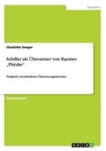Seeger, Charlotte Schiller als ?bersetzer von Racines