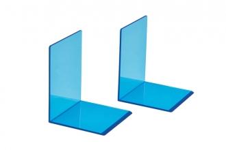 , Boekensteun MAUL 10x10x13cm acryl neon blauw