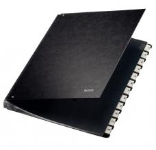 , Termijnmap Leitz 1-12 270x18x345mm hardboard zwart