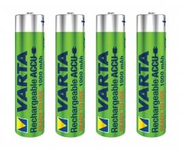 , Batterij oplaadbaar Varta 4xAAA 1000mAh ready2use