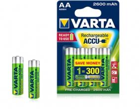 , Batterij oplaadbaar Varta 4xAA 2600mAh ready2use