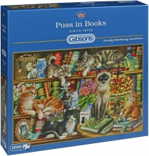 Gib-g6147 , Gibsons puzzel puss in books 1000