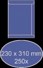 , Envelop akte 230x310mm zelfklevend 90gr bruin 250stuks