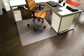 , vloermat Kangaro harde vloer 110 x 120 cm transparant PET   1,8mm