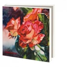 Wmc810 , Notecard pak 10 stuks 15 x15 cm rozen yvonne melchers