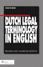 Tony  Foster Dutch Legal Terminology in English