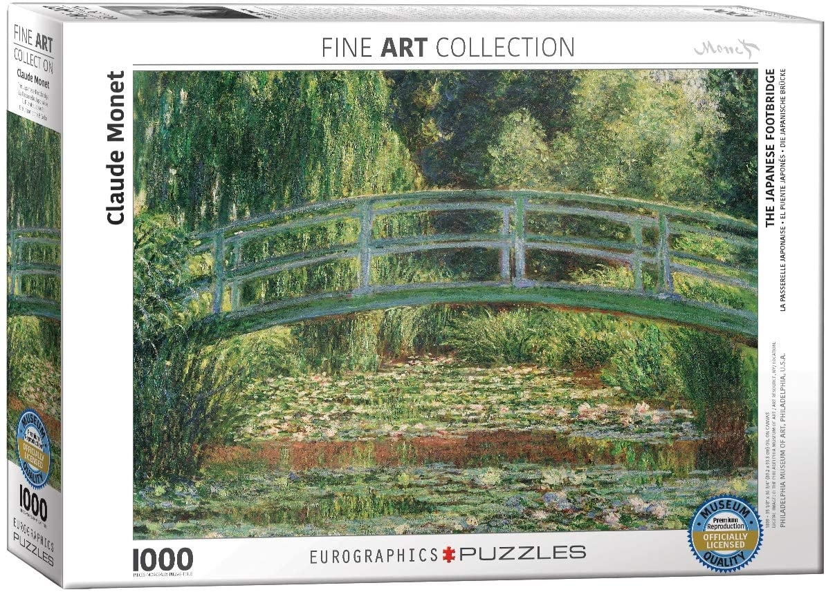 Eur-6000-0827,Puzzel the japanese footbridge - claude monet - 1000 stuks
