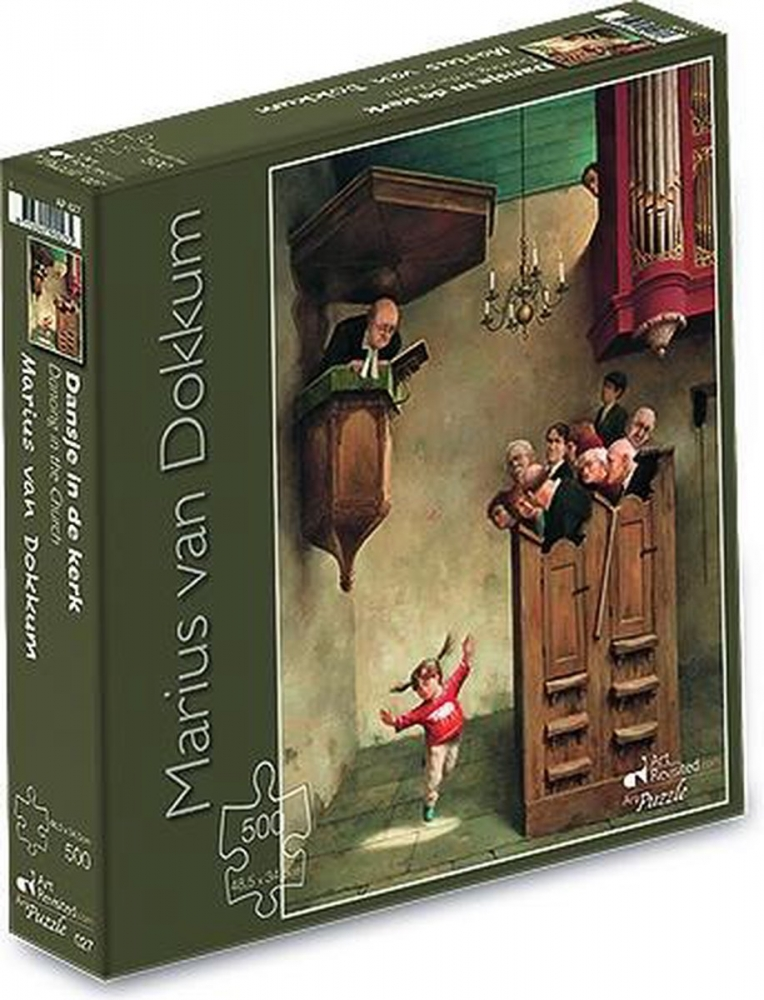 ,Marius van Dokkum - Dansje in de kerk - Puzzel 500 stukjes