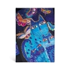 ,<b>Blue Cats & Butterflies Wrap Journal</b>