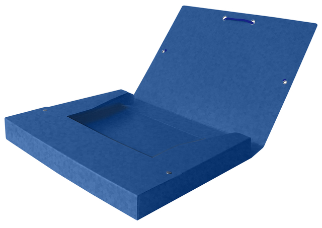 ,Elastobox Oxford Top File+ A4 40mm blauw