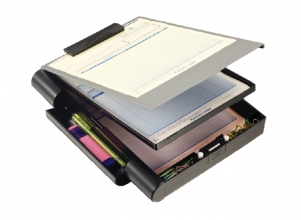 , Klembordkoffer Oic 83357 met opbergruimte grijs/zwart