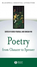 Derek Pearsall,   Duncan Wu Poetry from Chaucer to Spenser