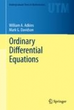 William A. Adkins,   Mark G. Davidson Ordinary Differential Equations