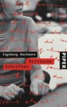 Bachmann, Ingeborg Kritische Schriften