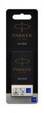 , Inktpatroon Parker Quink uitwisbaar blauw blister à 10 stuks