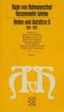 Hofmannsthal, Hugo von Reden und Aufsätze II. (1914 - 1924)