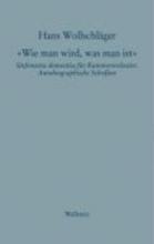 Wollschläger, Hans Schriften in Einzelausgaben »Wie man wird, was man ist«