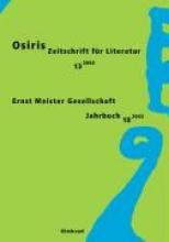 Osiris. Zeitschrift für Literatur und Kunst An und für Ernst Meister