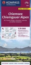 , KOMPASS Fahrradkarte Chiemsee, Chiemgauer Alpen 1:70.000, FK 3335