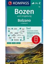 Kompass-Karten Gmbh , Bozen und Umgebung, Bolzano e dintorni 1:50 000