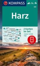 KOMPASS-Karten GmbH , KOMPASS Wanderkarte Harz 1 : 50 000