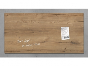 , glasmagneetbord Sigel Artverum 910x460x15mm Natural Wood